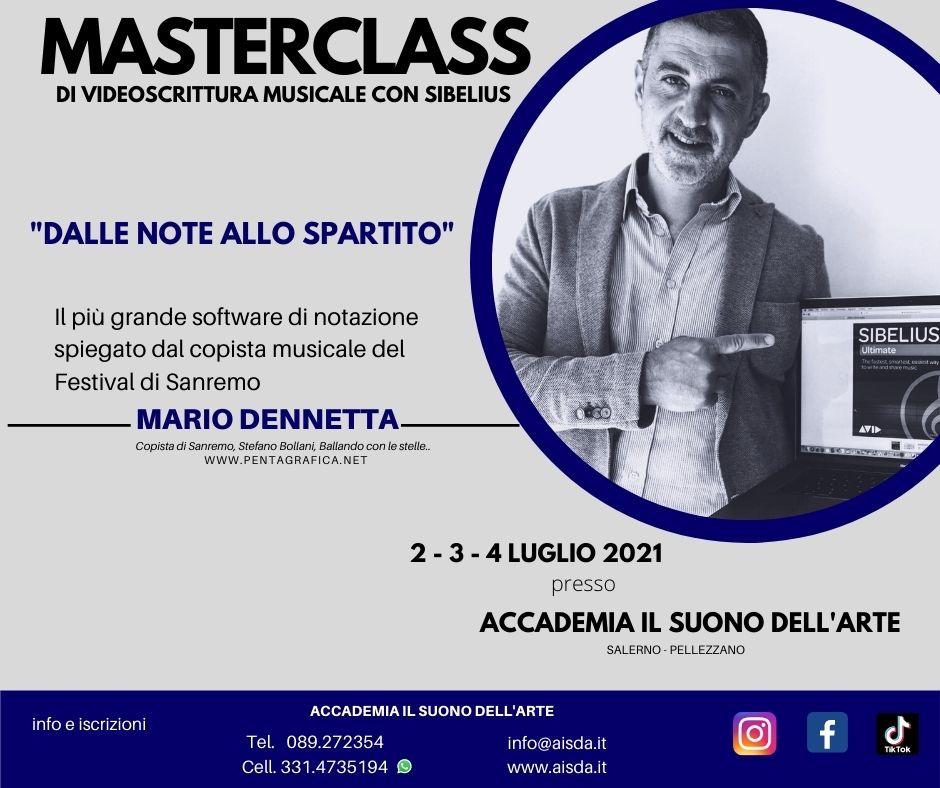 MasterClass Videoscrittura_Sibelius_2-3-4 luglio 2021